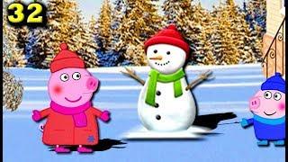 Мультики Свинка Пеппа новые серии Пеппа и Джордж слепили снеговиков Мультфильмы для детей на русском