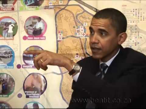 Barack Obama in Khayelitsha, South Africa