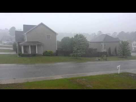 Ana storm in Fayetteville, North Carolina