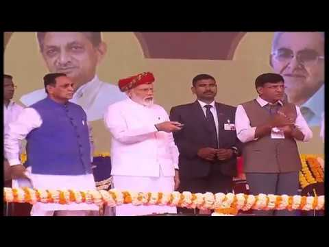 PM Narendra Modi 's Gujarati speech at Jamnagar in Gujarat