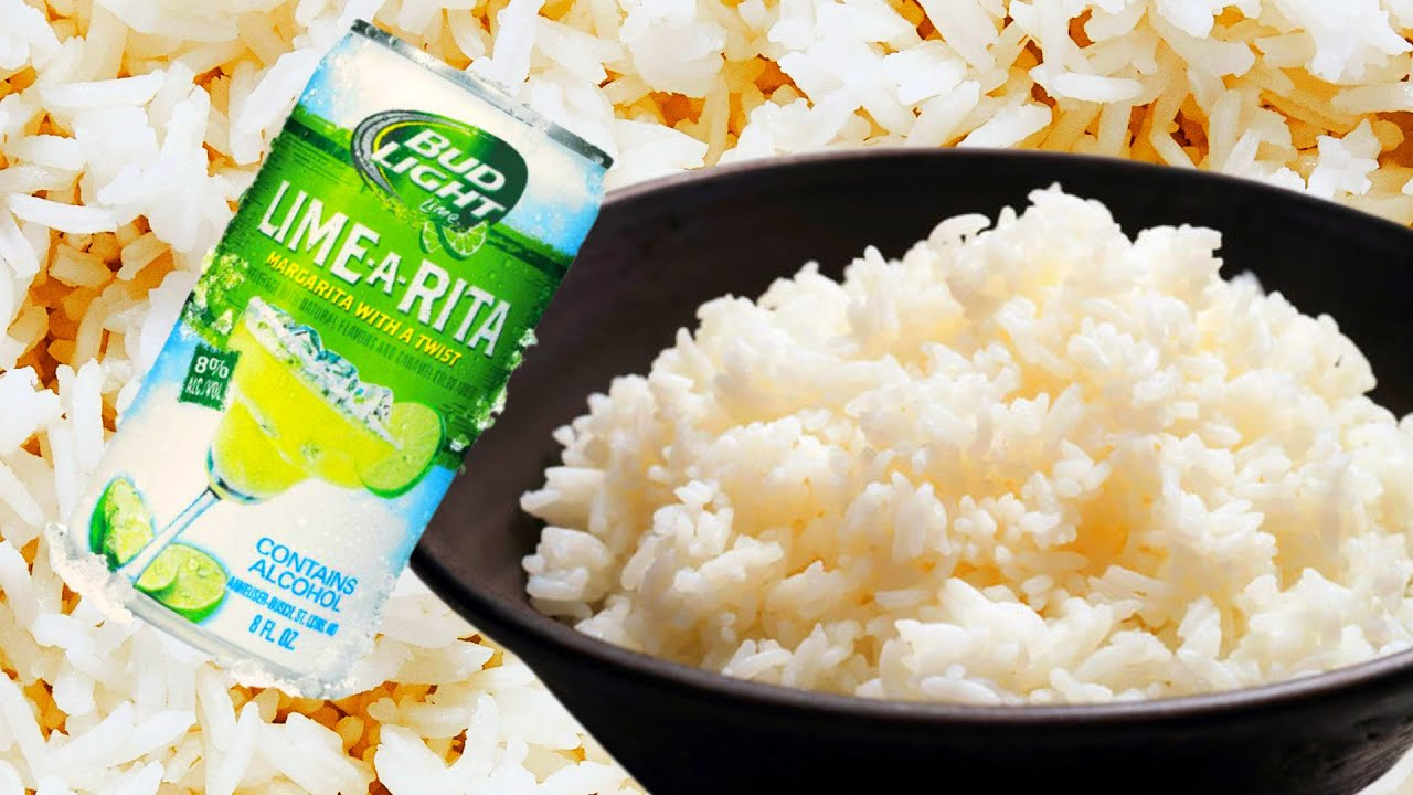 CRAZY FOOD COMBO!! RICE AND BEER!!