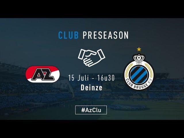AZ- CLUB BRUGGE   Matchverslag   Oefenwedstrijd    2017-2018