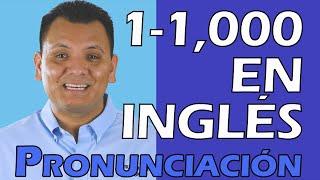 Pronunciación De Los Numeros En Inglés Numeros Del 1 Al 1 000 En Inglés Youtube