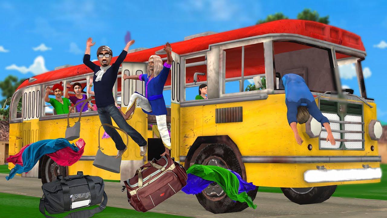 पागल बस ड्राइवर और सेल्स मैन Bus Driver Funny Comedy Kahani - Hindi Kahaniya - Funny Comedy Video