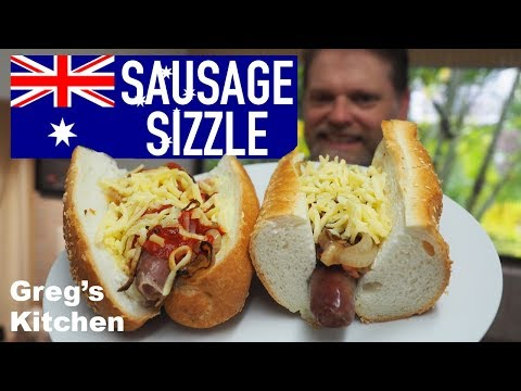 Australia Day Sausage Sizzle - Greg's Aussie As Hotdog Snag Recipe