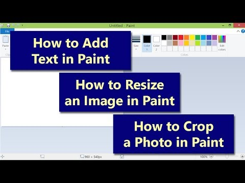 How to Add Text in Paint | How to Resize Image in Paint