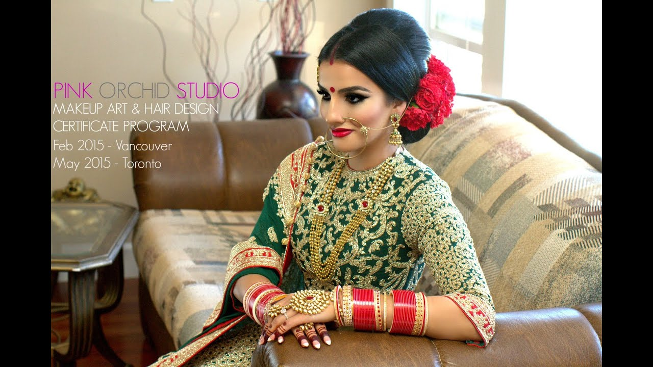 indian/bollywood/south asian bridal makeup - start to finish - by pink orchid studio