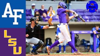 Air Force vs #12 LSU Highlights | 2021 College Baseball Highlights