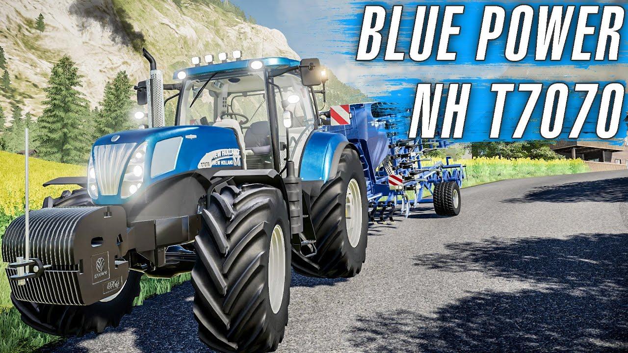 *NEW HOLLAND T7070 BLUE POWER ALDIK! MİBZERDE PERFORMANSI NASIL? *  FS19 Alpine DLC - Bölüm 36