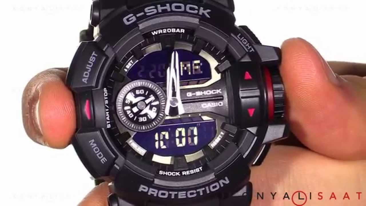 buy online 485ca 85fee CASIO G-SHOCK GA-400-1B Erkek Kol Saati
