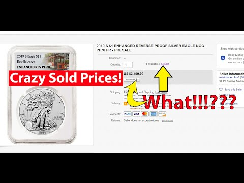 Crazy Prices For 2019 S Enhanced Reverse Proof Silver Eagle!