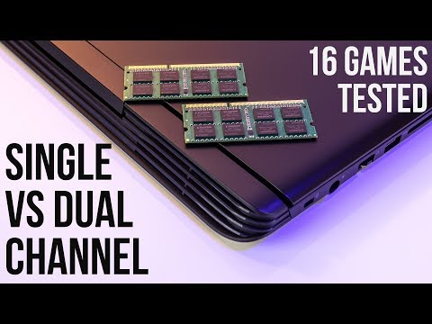 Single Channel vs Dual Channel Memory - Laptop Gaming and CPU Benchmarks