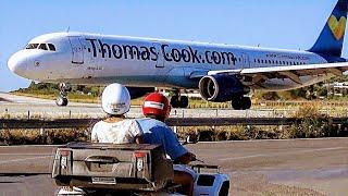 FEEL THE BLAST! Skiathos Extreme JETBLAST Takeoff - Thomas Cook A321 - ATC Comms - JSI PlaneSpotting