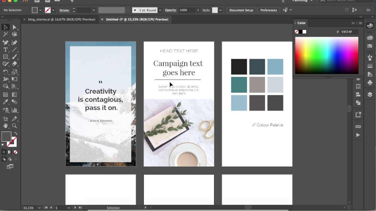 story layout template