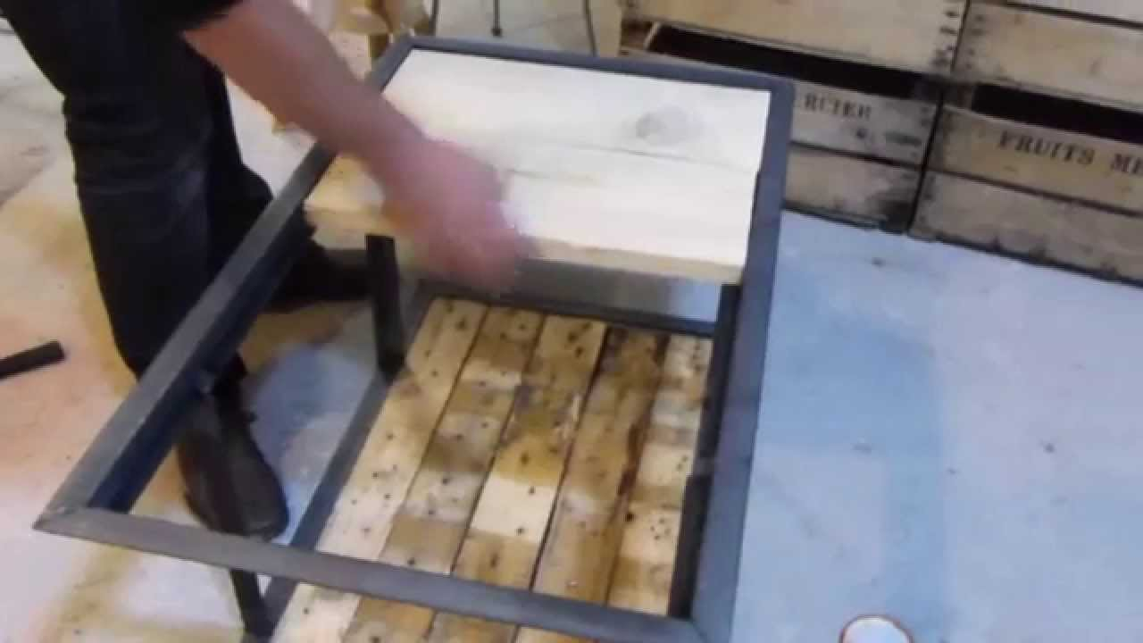 L 39 atelier meuble industriel youtube - Table basse palette industrielle ...