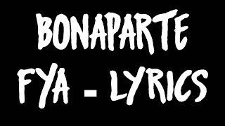 Bonaparte - FYA lyrics