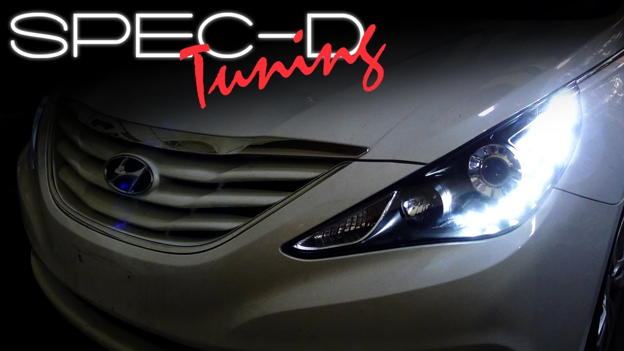 Specdtuning Installation Video 2011 2013 Hyundai Sonata Led Projector Headlights Youtube