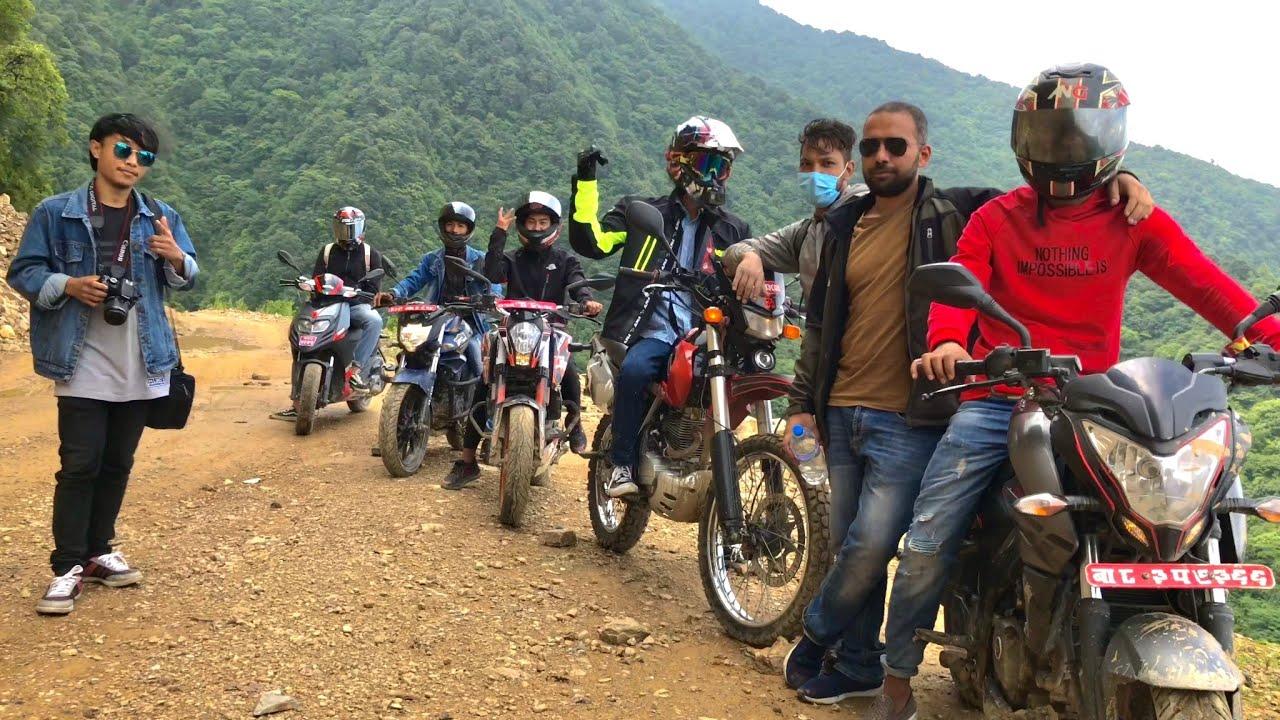 Chitlang - Off road Ride    Bike Crash, BBQ Party & Drone Shot    Nepal