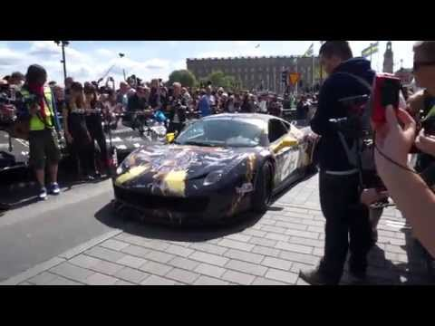Gumball3000 #SthlmToVegas | Team Anime Liberty walk 458 rolling of the start