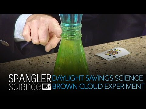 Daylight Savings Science Brown Cloud Experiment - Cool  Science Experiment