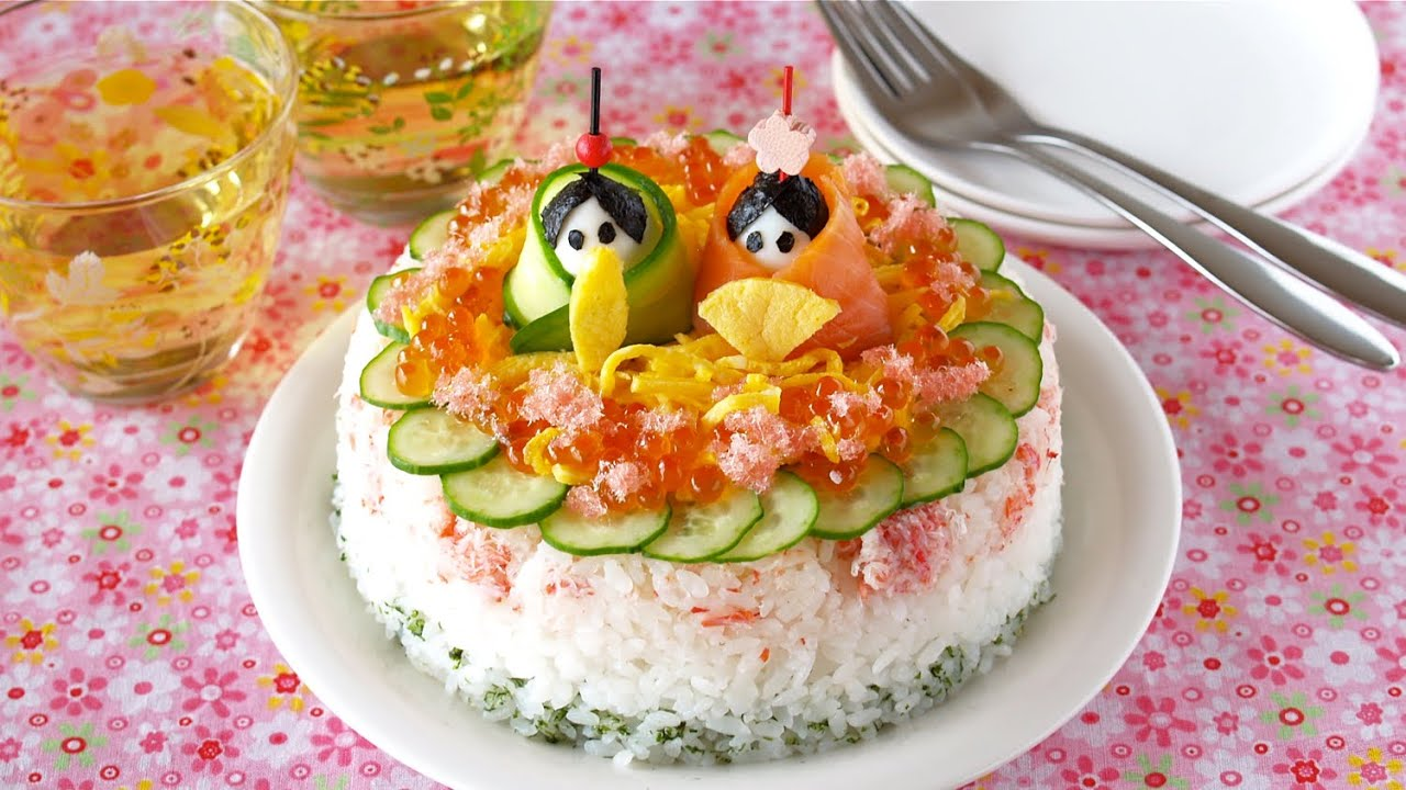Sushi Cake for My Daughter's First Girl's Festival ...