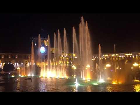 Nightlife in Yerevan- capital of Armenia