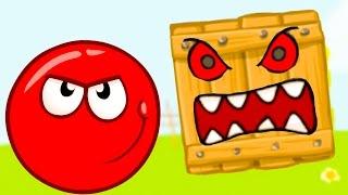 КРАСНЫЙ ШАР или RED BALL 4 против ЧЕРНОГО ЗЛОГО квадрата приключения героя мульт для детей