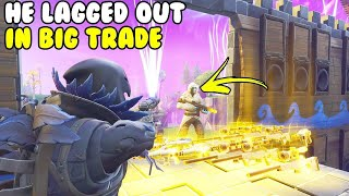 Fake Lag Out Scam est INSANE! 😱 (Scammer Gets Scammed) Fortnite Save The World