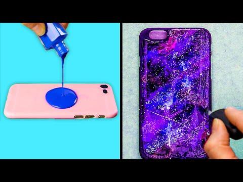 AWESOME GALAXY PHONE DECOR || DIY Phone Case Ideas!