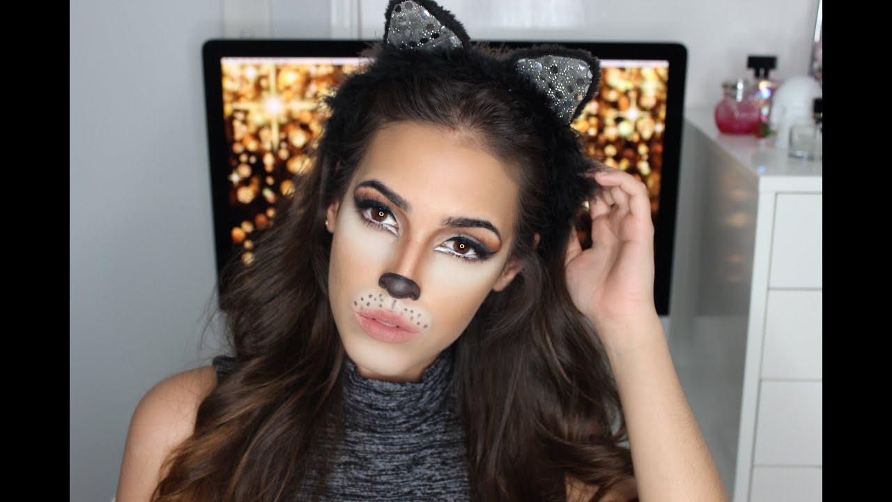 Maquillaje de Gatita para Halloween QA YouTube