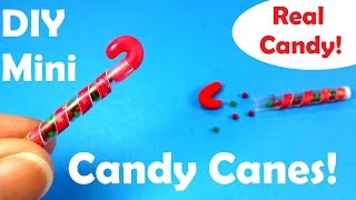 DIY Miniature M & M Candy Canes (w Real Candies Inside)! - Christmas Holiday Craft