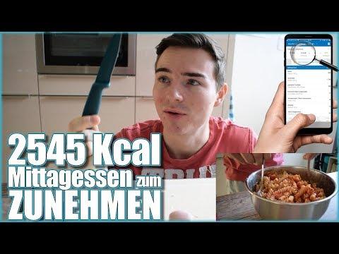 2500 Kcal MITTAGESSEN zum ZUNEHMEN | Vlog #2 #ZunehmVlog