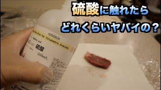 【実験】硫酸に触ってしまうとどれだけヤバかわかる動画 thumbnail