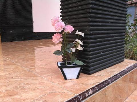 Begini Cara Paling Mudah Membuat Pot Bunga