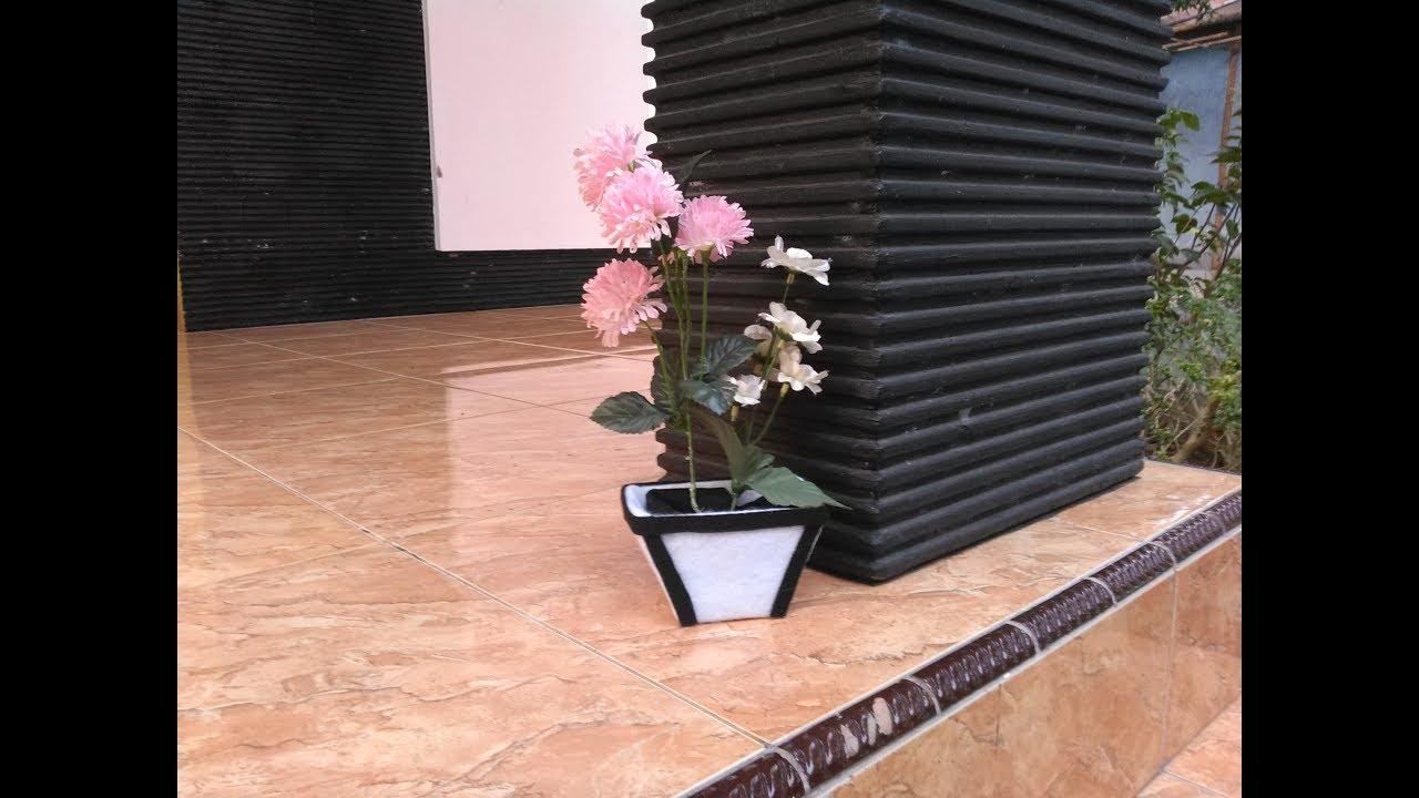 Begini Cara Paling Mudah Membuat Pot Bunga - YouTube bdfa01a9be