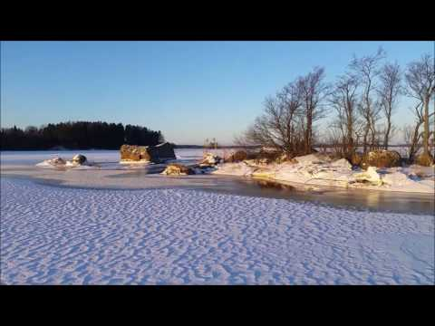 Skiing about the Gulf of Finland