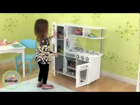 Kidkraft Kitchen White kidkraft vintage kitchen in white 53208 - youtube
