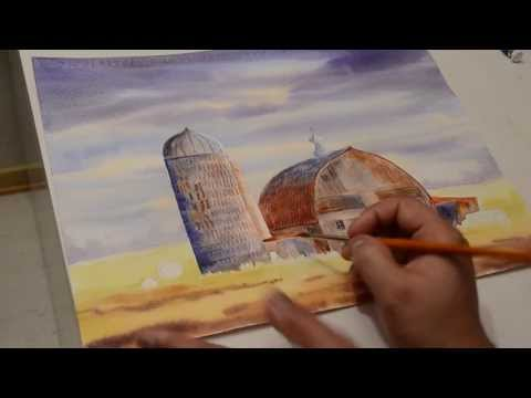 Painting A Weathered Barn in water color full version