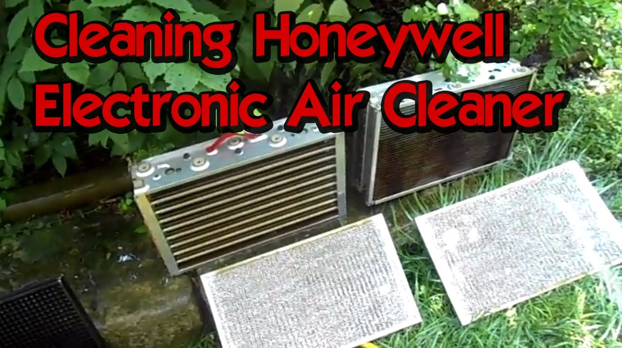 Cleaning Honeywell Electronic Air Cleaner in CNC Room ...