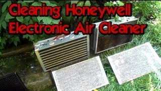 Cleaning Honeywell Electronic Air Cleaner In Cnc Room