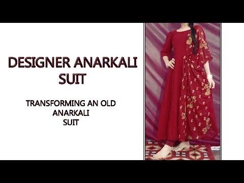Designer Anarkali suit - Transform old Anarkali into new