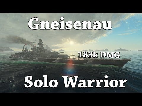 WoWS: Gneisenau - Solo Warrior [183k DMG]