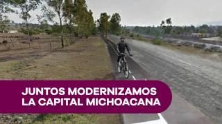 Avanza la construción del la ciclovía Morelia - Pátzcuaro
