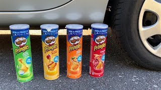 Crushing Crunchy & Soft Things by Car! - EXPERIMENT: PRINGLES VS CAR