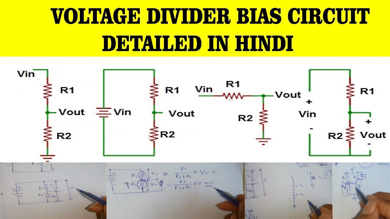 Voltage Divider Circuit In Hindi Best Secret Wiring Diagram Calculator Bias Detailed Explained By Rh Youtube Com Dc