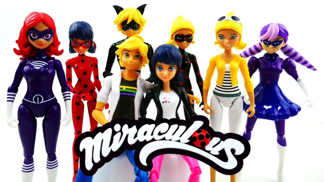 Compilation Miraculous Ladybug Toys Full Set Action