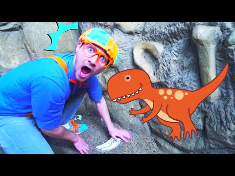 Blippi at an Outdoor Children's Museum | Learning Activities for Kids | Learn at Home | Blippi