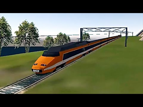 Euro Train Simulator - Paris-Gare De Lyon to Modane Using Orange SNCF TGV (Glitch Make Stuck)