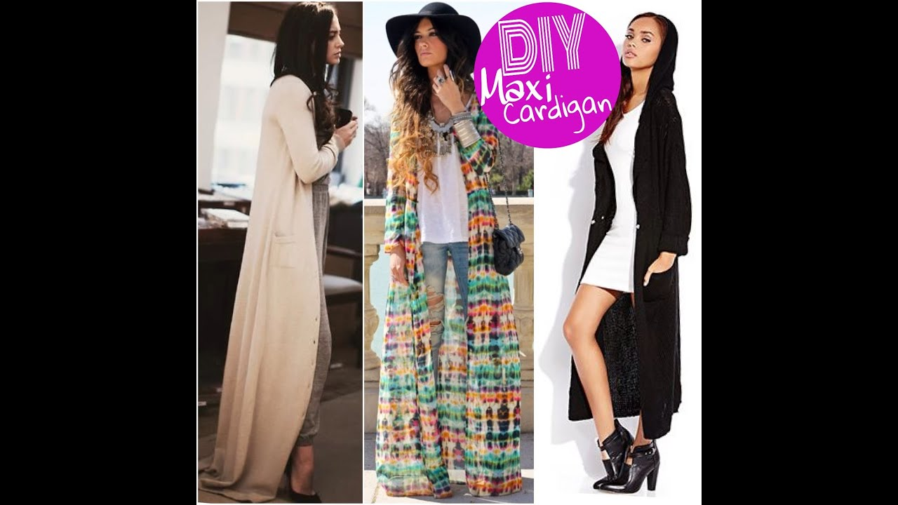 DIY: Maxi Cardigan - YouTube