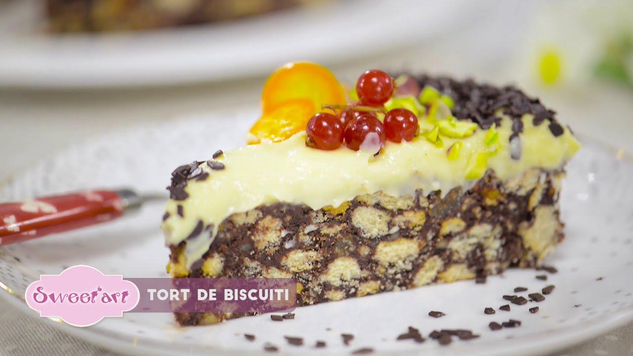 Reteta - Tort de biscuiti cu crema de vanilie| Bucataras TV